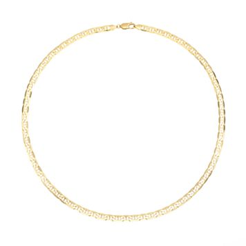 14k Gold Marine Link Necklace