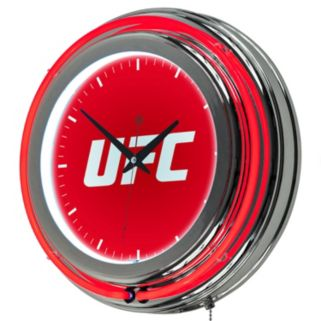 UFC Chrome Double-Ring Neon Wall Clock