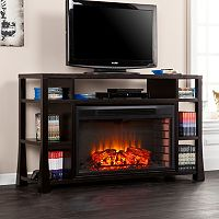 Southern Enterprises Meyers Media Console & Electric Fireplace