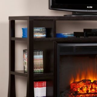 Southern Enterprises Meyers Media Console and Electric Fireplace