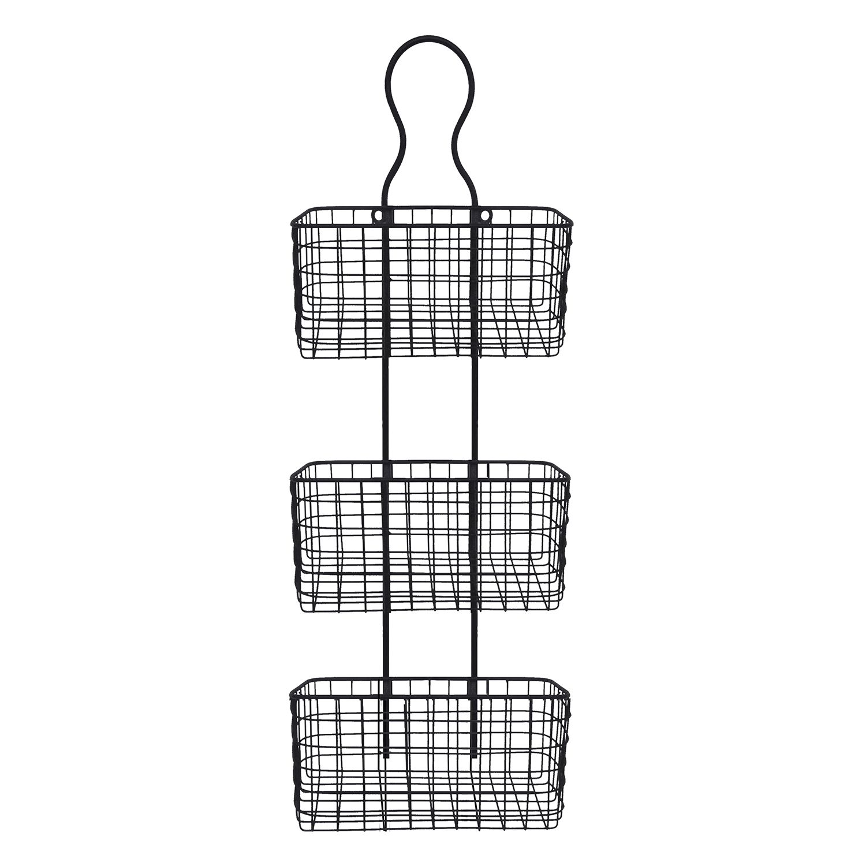 Wire basket wall decor