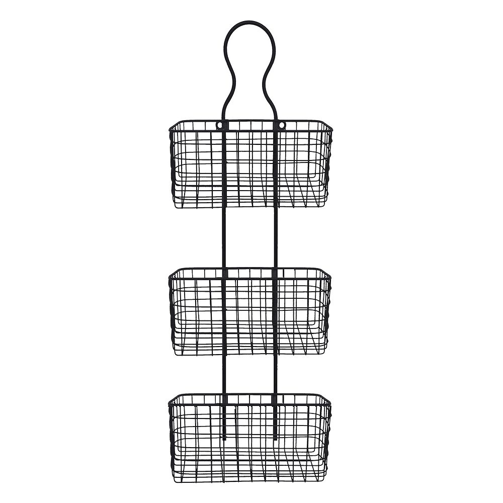 Basket 3-Tier Metal Wall Decor