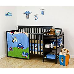 Dream On Me 2 pc Travel Time Crib Bedding Set