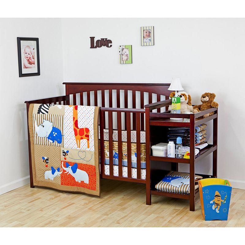 Dream On Me 3-pc. Jungle Babies Crib Bedding Set, Multicolor