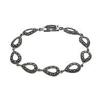 Tori Hill Marcasite Sterling Silver Teardrop Bracelet