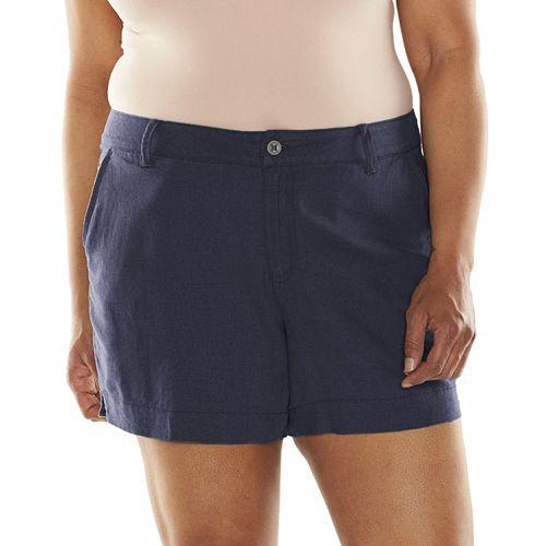 Plus Size SONOMA Goods for Life™ Linen-Blend Shorts