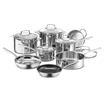 Cuisinart 13-Piece Stainless Steel Cookware Set + $20 Kohls Cash