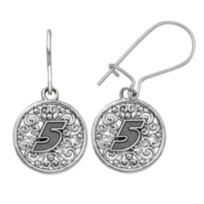 """Insignia Collection NASCAR Kasey Kahne Stainless Steel """"5"""" Drop Earrings"""