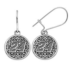 Insignia Collection NASCAR Jeff Gordon Stainless Steel '24' Drop Earrings