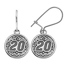 Insignia Collection NASCAR Matt Kenseth Stainless Steel '20' Drop Earrings