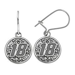 Insignia Collection NASCAR Kyle Busch Stainless Steel '18' Drop Earrings