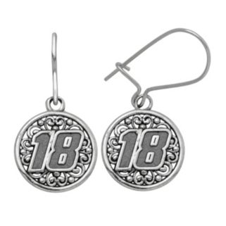 "Insignia Collection NASCAR Kyle Busch Stainless Steel ""18"" Drop Earrings"