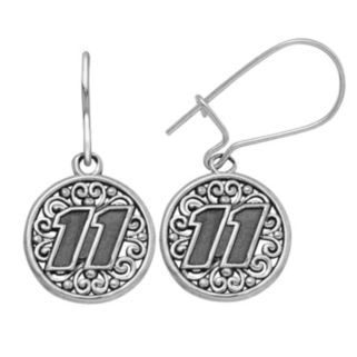 """Insignia Collection NASCAR Denny Hamlin Stainless Steel """"11"""" Drop Earrings"""