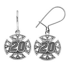 Insignia Collection NASCAR Matt Kenseth Stainless Steel '20' Maltese Cross Drop Earrings