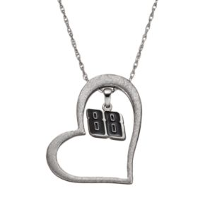 "Insignia Collection NASCAR Dale Earnhardt Jr. ""88"" Stainless Steel Heart Pendant Necklace"