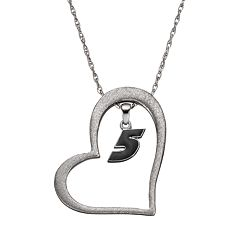 Insignia Collection NASCAR Kasey Kahne '5' Stainless Steel Heart Pendant Necklace