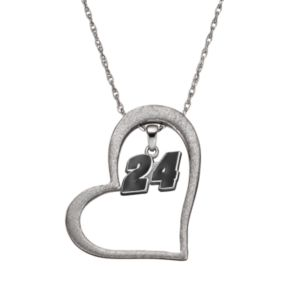 "Insignia Collection NASCAR Jeff Gordon ""24"" Stainless Steel Heart Pendant Necklace"