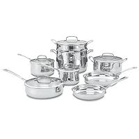 Cuisinart 13 pc Contour Stainless Steel Cookware Set