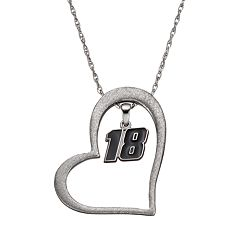 Insignia Collection NASCAR Kyle Busch '18' Stainless Steel Heart Pendant Necklace