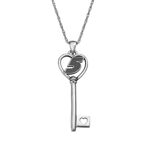 Insignia Collection NASCAR Kasey Kahne 5 Stainless Steel Key Pendant Necklace