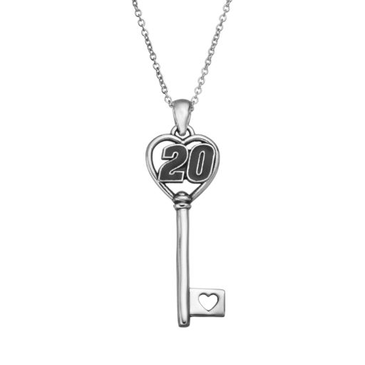 "Insignia Collection NASCAR Matt Kenseth ""20"" Stainless Steel Key Pendant Necklace"