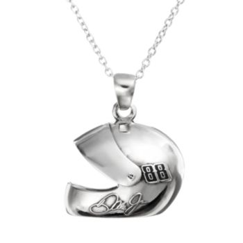 """Insignia Collection NASCAR Dale Earnhardt Jr. """"88"""" Stainless Steel Helmet Pendant Necklace"""