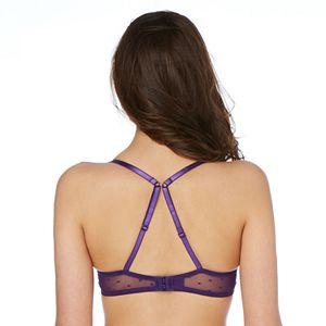 Candie's® Bra: Lace Push-Up Balconette Bra