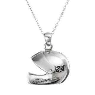 "Insignia Collection NASCAR Jeff Gordon ""24"" Stainless Steel Helmet Pendant Necklace"