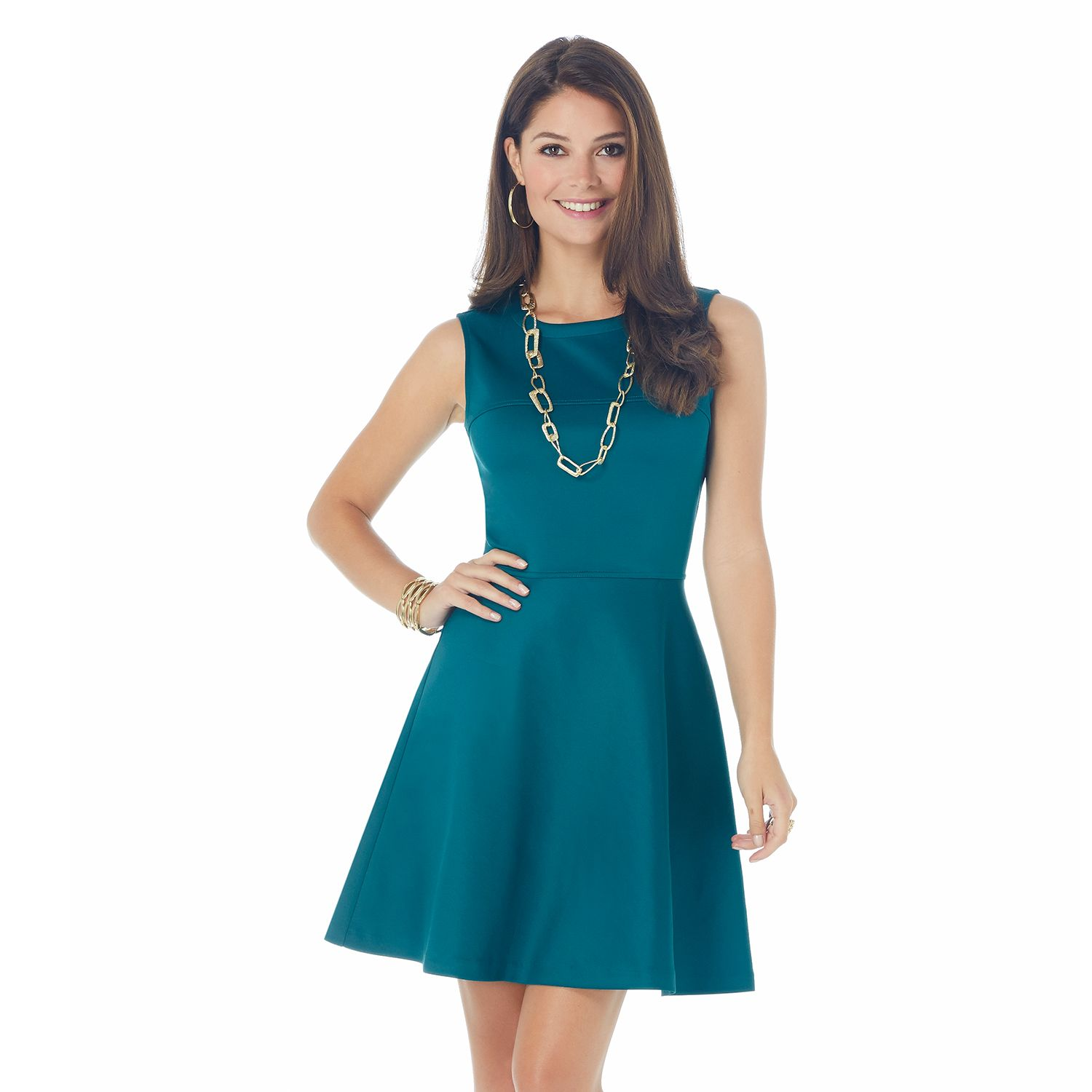 Fit and Flare Scuba Dress