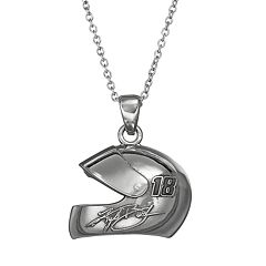 Insignia Collection NASCAR Kyle Busch '18' Stainless Steel Helmet Pendant Necklace