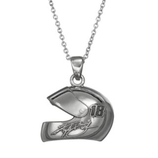 """Insignia Collection NASCAR Kyle Busch """"18"""" Stainless Steel Helmet Pendant Necklace"""