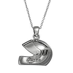 Insignia Collection NASCAR Denny Hamlin '11' Stainless Steel Helmet Pendant Necklace