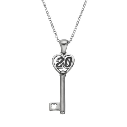 """Insignia Collection NASCAR Matt Kenseth """"20"""" Stainless Steel Key Pendant Necklace"""