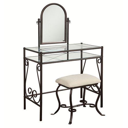 Linon Clarisse 3 Piece Vanity Set