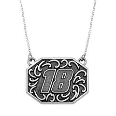 Insignia Collection NASCAR Kyle Busch Stainless Steel '18' Pendant