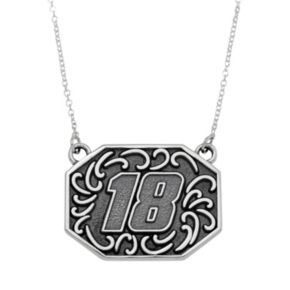 """Insignia Collection NASCAR Kyle Busch Stainless Steel """"18"""" Pendant"""