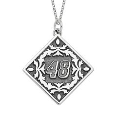 Insignia Collection NASCAR Jimmie Johnson '48' Stainless Steel Pendant Necklace