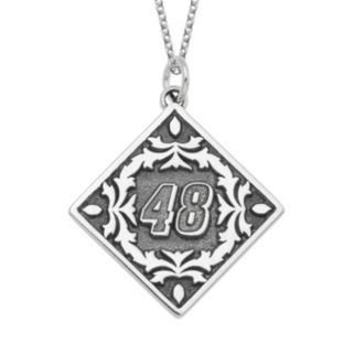 "Insignia Collection NASCAR Jimmie Johnson ""48"" Stainless Steel Pendant Necklace"