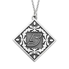 Insignia Collection NASCAR Kasey Kahne '5' Stainless Steel Pendant Necklace