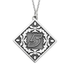 """Insignia Collection NASCAR Kasey Kahne """"5"""" Stainless Steel Pendant Necklace"""