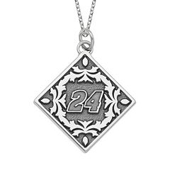 Insignia Collection NASCAR Jeff Gordon '24' Stainless Steel Pendant Necklace