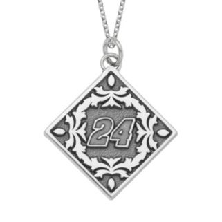 """Insignia Collection NASCAR Jeff Gordon """"24"""" Stainless Steel Pendant Necklace"""