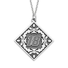 Insignia Collection NASCAR Kyle Busch '18' Stainless Steel Pendant Necklace