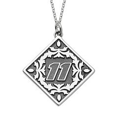 Insignia Collection NASCAR Denny Hamlin '11' Stainless Steel Pendant Necklace
