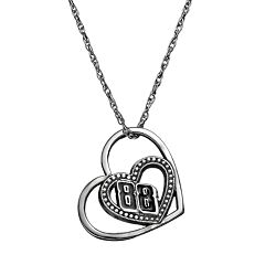 Insignia Collection NASCAR Dale Earnhardt Jr. '88' Stainless Steel Heart Pendant Necklace