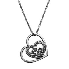 Insignia Collection NASCAR Matt Kenseth '20' Stainless Steel Heart Pendant Necklace