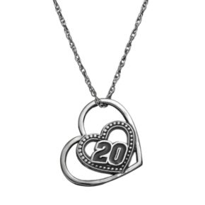 """Insignia Collection NASCAR Matt Kenseth """"20"""" Stainless Steel Heart Pendant Necklace"""