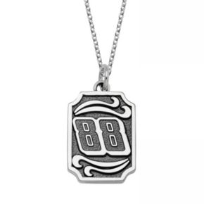 """Insignia Collection NASCAR Dale Earnhardt Jr. Stainless Steel """"88"""" Pendant"""