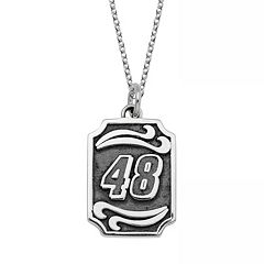 Insignia Collection NASCAR Jimmie Johnson Stainless Steel '48' Pendant