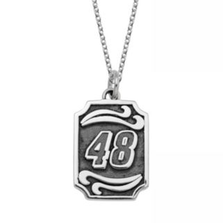 """Insignia Collection NASCAR Jimmie Johnson Stainless Steel """"48"""" Pendant"""